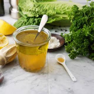 Apple Cider Vinegar And Maple Syrup Salad Dressing.