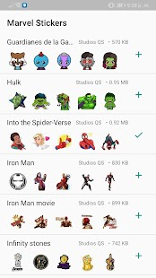 MCU Superhero Sticker - WastickerApps Screenshot