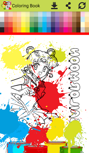 Princess anime Coloring Books for Kids Free Games 1.0 screenshots 1