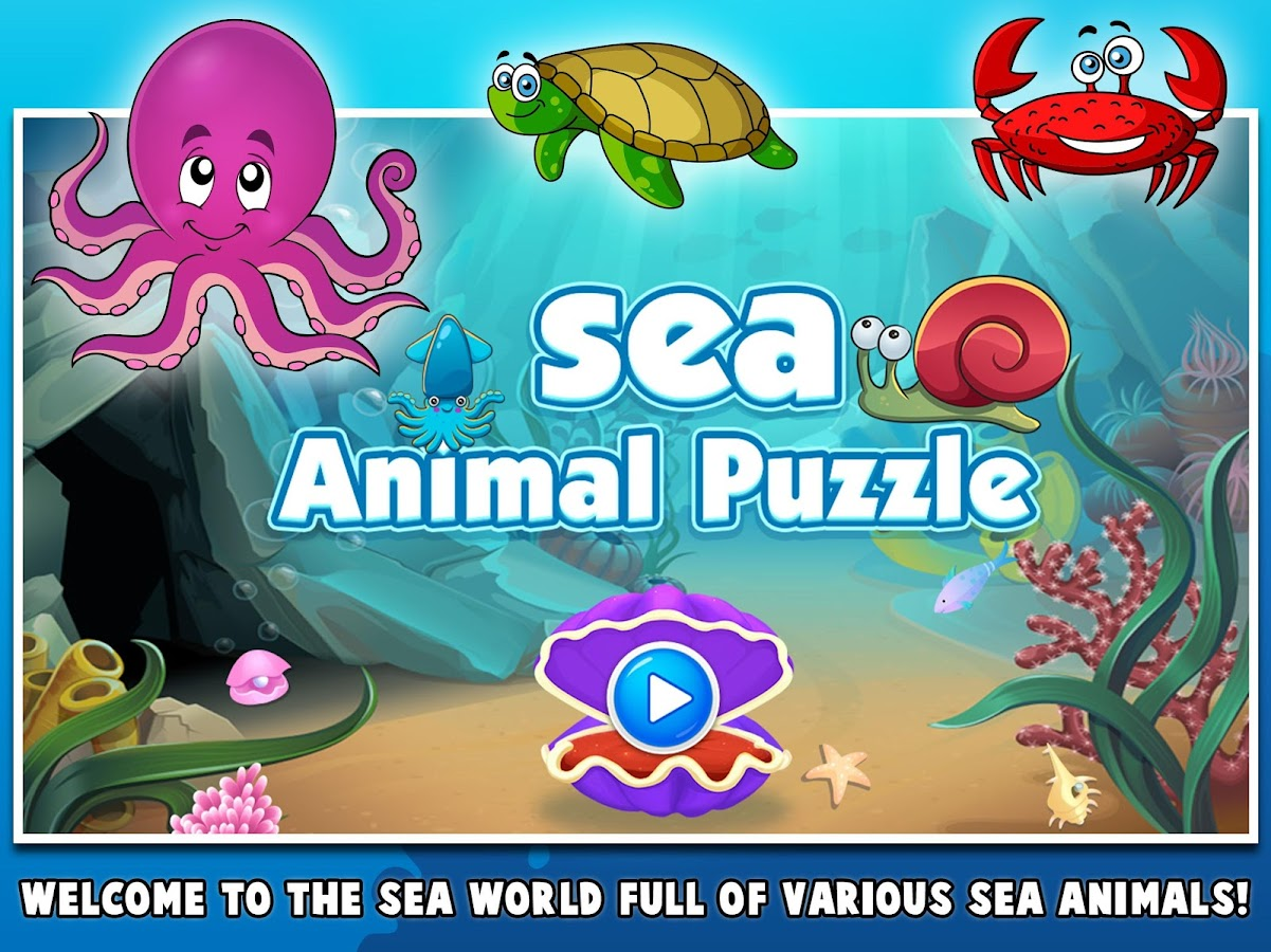 my first sea animals puzzle jigsaw games for kids android apps