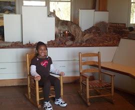 Photo: Kaleya in the mini-rocking chairs