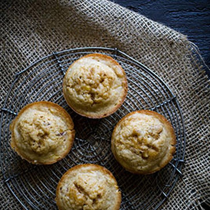 Brown Butter Nectarine Muffins Recipe