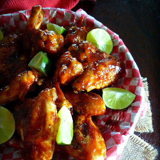Baked BBQ'd Chipotle Lime Wings