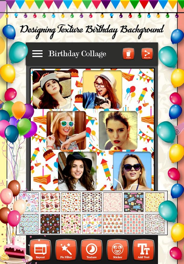 Birthday photo collage maker android apps on google play birthday photo collage maker screenshot bookmarktalkfo Image collections