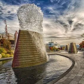 by Darrin McNett - Uncategorized All Uncategorized ( water fountain, city park )