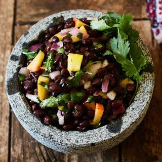 Caribbean Black Bean & Peach Salad Recipe