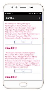 instLike and followers hashtag - náhled