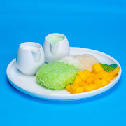 Mango Sticky Rice (Coconut & Pandan Flavoured Rice)