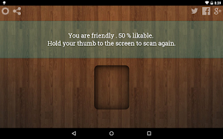 Screenshot of Likability Scanner Prank