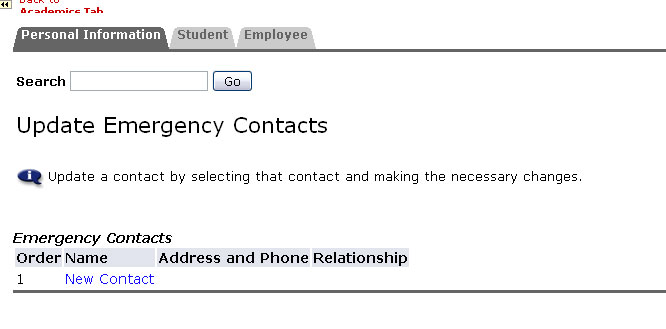 Emergency Contacts New