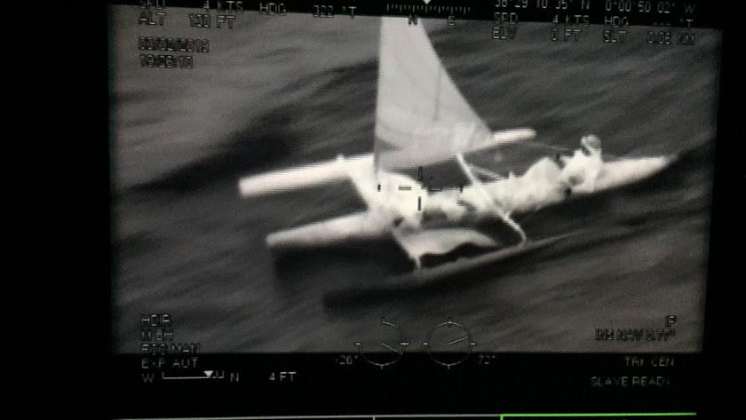 Imágenes de un rescate de Salvamento Marítimo