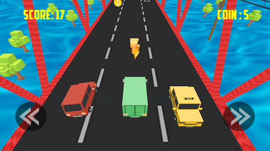 Blocky Cars: Smashy Road - náhled