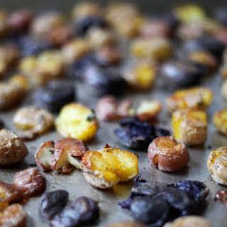 Duck Fat Smashed Potatoes.