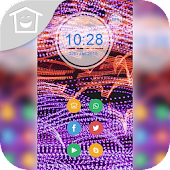 Colorful silk pattern theme