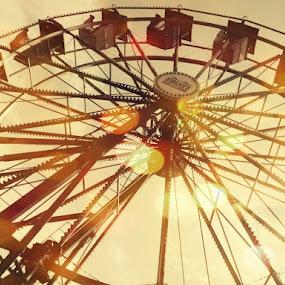 Ferris Wheel of Dreams by Tasha Black - City,  Street & Park  Amusement Parks ( inspiration, amusement park, dream, beautiful, light )