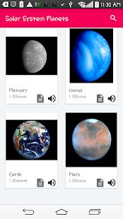 Solar System Planets Names Description - náhled