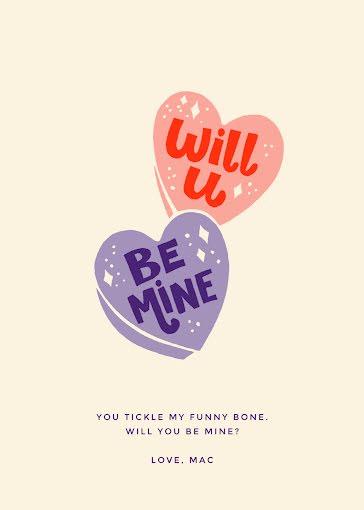 Will U Be Mine - Valentine's Day Card Template