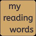 my reading words icon