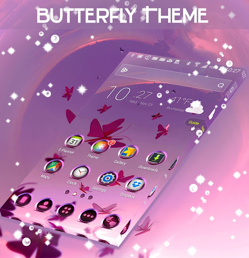Butterfly Theme app (apk) free download for Android/PC/Windows screenshot