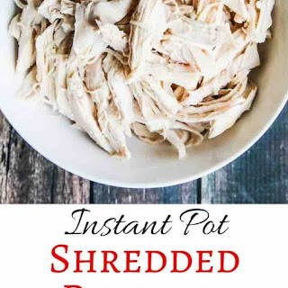 Instant Pot Shredded Poached Chicken.