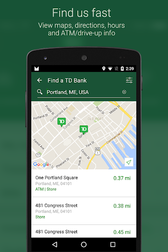 TD Bank (US) Screenshot