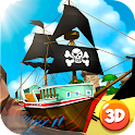 Pirate Battleship Fight 3D icon