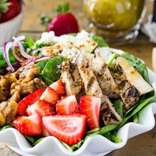 Strawberry Chicken Salad With Champagne Vinaigrette.