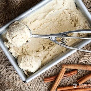 Keto Eggnog Ice-Cream