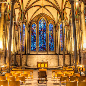 Trinity Chapel, Salisbury Cathedral by Zoot The-Tog - Buildings & Architecture Places of Worship ( chair, window, church, holy, cathedral, chapel, worship )