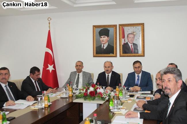 KUZKA Toplantısı,Çankırı Valisi Hamdi Bilge Aktaş,Çankırı Belediye Başkanı İsmail Hakkı Esen, - Çankırı