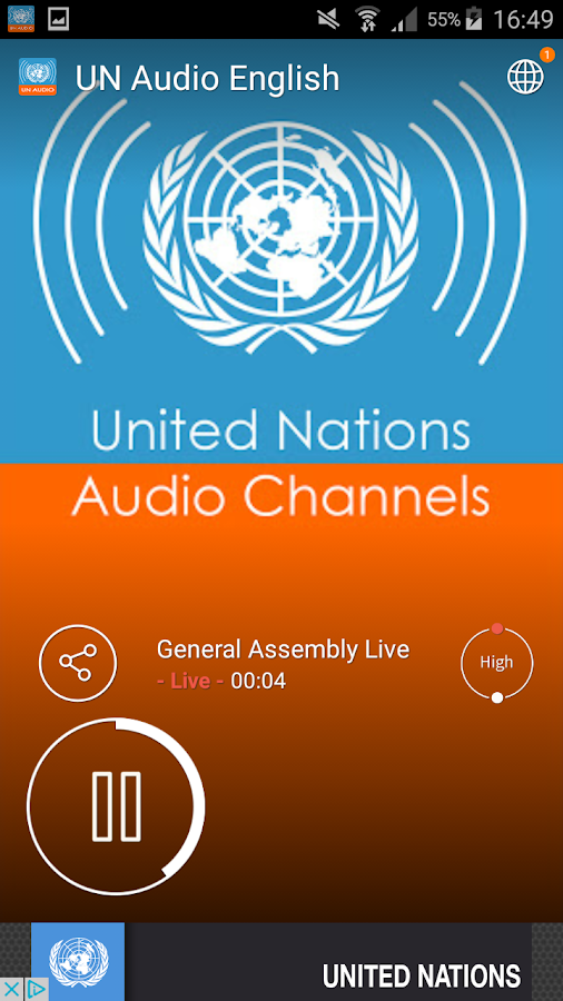 UN Audio Channels- screenshot