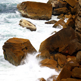 Big rocks by the ocean by Gil Reis - Nature Up Close Rock & Stone ( cliffs, places, rocks, portugal, stones, sea )