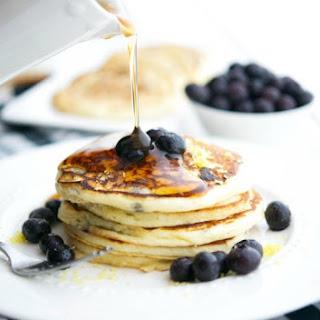 Lemon Ricotta Blueberry Pancakes + The Natural Pregnancy Cookbook Review