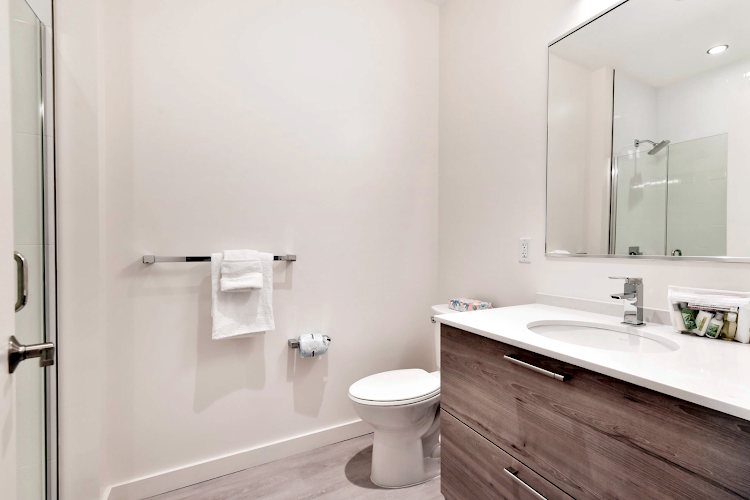 Bathroom at Global Luxury Suites on Harrison Avenue