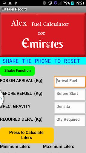 Alex Fuel Calculator for EK 1.8 screenshots 2