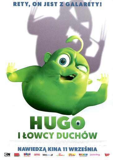 Przód ulotki filmu 'Hugo i Łowcy Duchów'