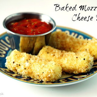 Baked Mozzarella Cheese Sticks.