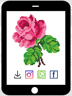 Pixel Color By Numbers: Flowers
