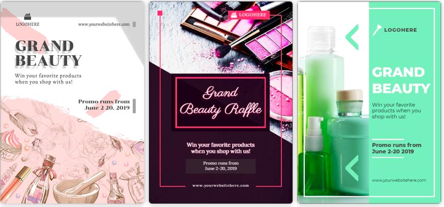 Annunci display di prodotti o template  di ads disponibili su Designmaker.