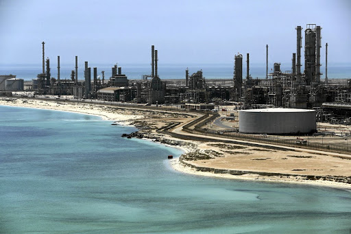 Saudi Aramco's Ras Tanura oil refinery and oil terminal. Picture: REUTERS