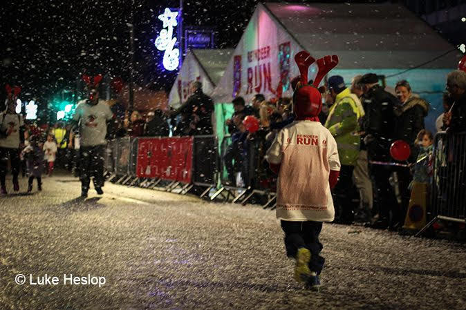 Reindeer Run with artificial snow