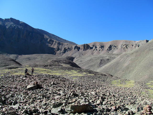 Nearing the couloirs