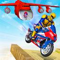 Super Light Speed Robot Bike Stunts icon