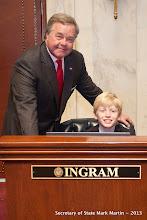 Photo: 3-27-13 Sen Ingram with Will Cunningham