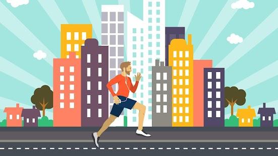 Hrdina Běžec Spěch v Město - náhled