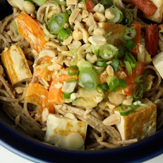 Soba Noodles With Peanut Sauce.