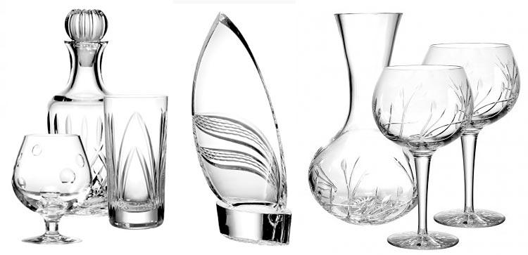 Barware, glassware and stemware from Nova Scotian Crystal.