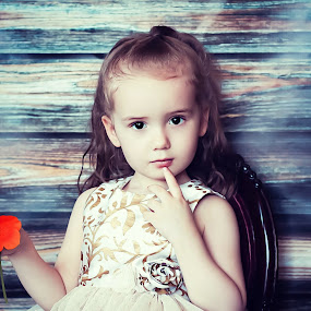 Rayla's Chair by Jenny Hammer - Babies & Children Child Portraits ( chair, girl, children, portraits, pretty )