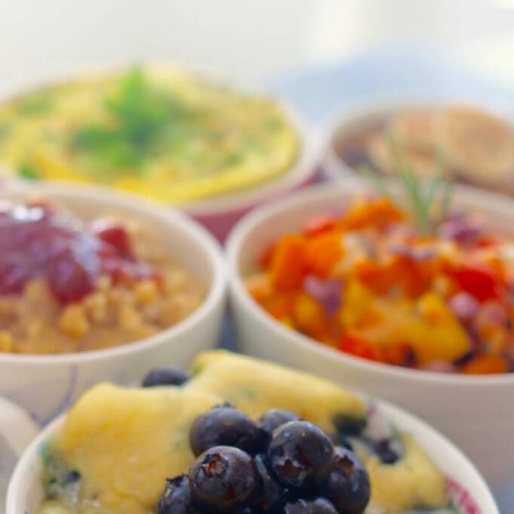 Blueberry Pancake in a Mug - Back to School Microwave Breakfast