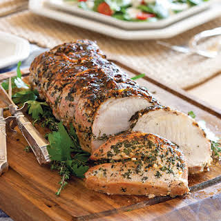 Herb-Stuffed Pork Loin Roast.